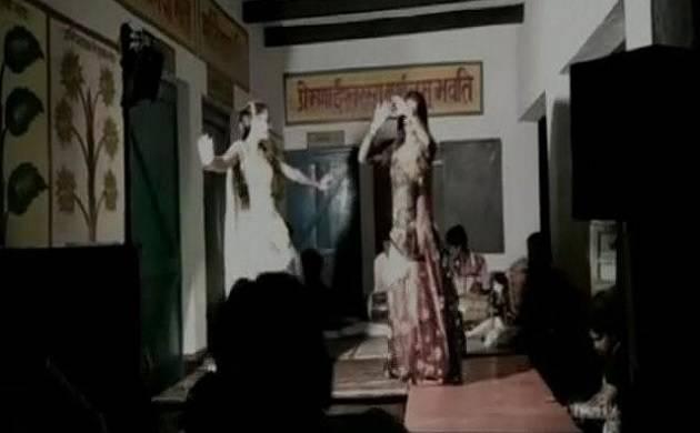 Mirzapur school becomes dance bar, education department orders probe (Screen grab of video)