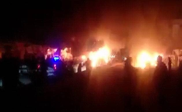 Bomb blast in Pishin Stop area of Pakistan's  Quetta, 15 dead, 32 injured (Dawn news photo)