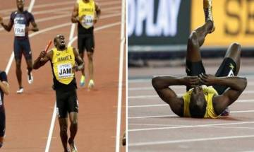 World Championships: Usain Bolt stumbles on his last hurdle, breaks down in tears