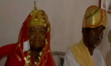 Never too late for love: 75-year old Ratiya Ram and 70-year old Jimnabari Bai ties knot in Jashpur