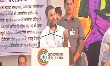 Rahul Gandhi at 'Sanjhi Virasat Bachao' event: 'PM Modi gave 'Make In India' but most things are 'Made In China'