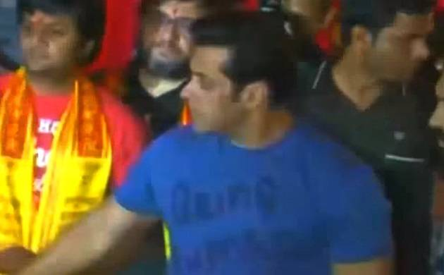 Salman chose to celebrate Ganesh Chaturthi at his sister Arpita's house (Agency picture)