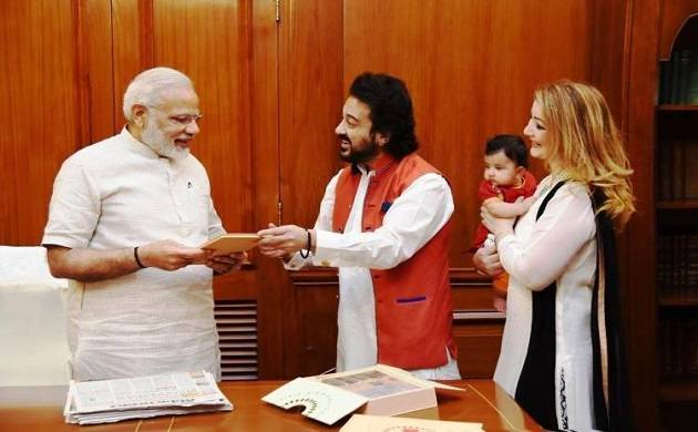 PM Modi spent a good 40 minutes with Adnan, Roya, and Medina (Agency picture)