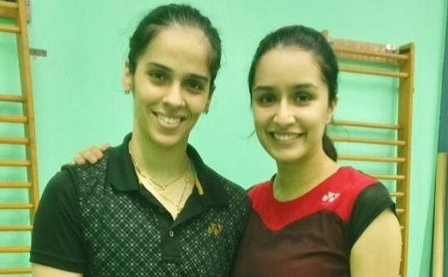 Saina Nehwal biopic: Shraddha Kapoor trains with badminton star in a special session (see pic)