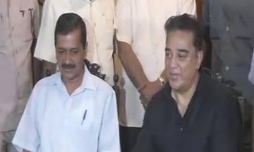 Chennai: Arvind Kejriwal meets Kamal Haasan, says actor should join politics