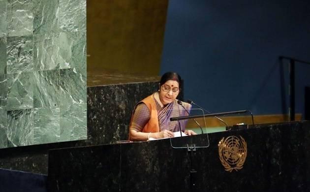 EAM Sushma Swaraj hits Pakistan left, right and centre at UNGA, top quotes