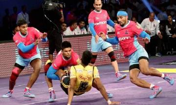 Pro Kabaddi League 2017: Telugu Titans beat Jaipur Pink Panthers 41-34