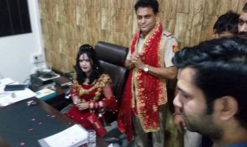 Delhi: Self-styled god woman Radhe Maa sits on SHO's chair at police station, probe ordered