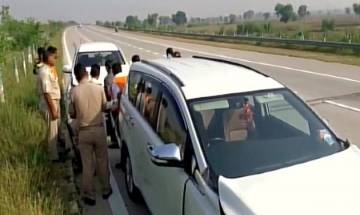 Mathura   RSS Chief Mohan Bhagwat escapes unhurt in road accident on Yamuna Expressway