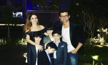 Hrithik Roshan and his sons turn up to support Suzanne Khan's 'The Charcoal Project'