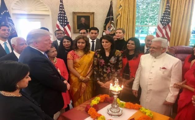 Donald Trump, Theresa May, Justin Trudeau send Diwali wishes, celebrate festival of light. (Source:Twitter/Ivanka Trump)