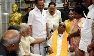 PM Narendra Modi meets ailing Karunanidhi; DMK says no politics discussed