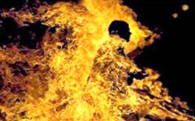 Hyderabad: Two women set drunk husband ablaze (Representative Image)
