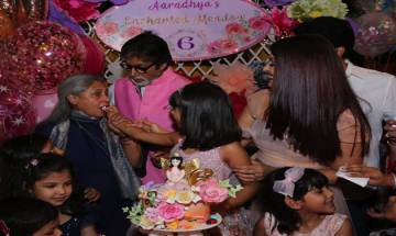 Amitabh Bachchan shares adorable pictures of Aaradhya & AbRam from grand-daughter's birthday bash