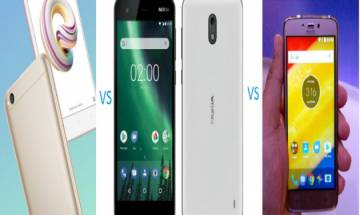 Xiaomi Redmi 5A vs Nokia 2 vs Moto C Plus: Price, specs, features comparison