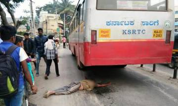 WATCH | Man jumps under moving bus in Karnataka, incident caught on CCTV
