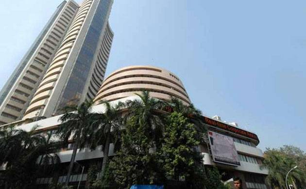 Sensex jumps 216 pts after exit polls give BJP an edge
