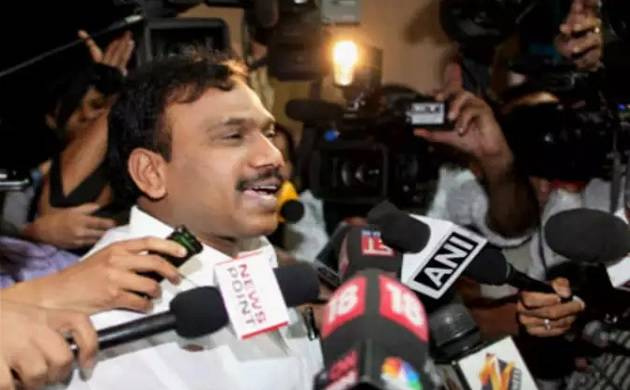 Former telecom minister A. Raja, one of the main accused in 2G scam case (PTI photo)