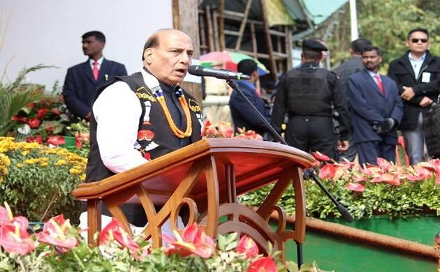 HM Raj Nath Singh addressing Hornbill Festival at Nagaland (Source: Twitter)