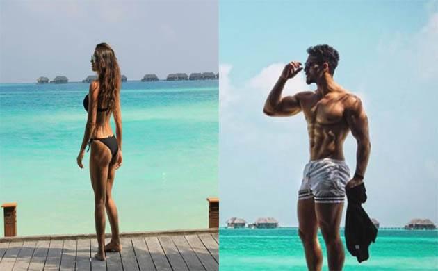 Disha Patani and Tiger Shroff show-off their hot bodies under the sun(Image Courtesy: Disha Patani, Tiger Shroff's Instagram)