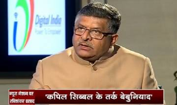 By backing Triple Talaq Bill, Sonia could have washed off her husband's sins, says Law Minister Ravi Shankar Prasad