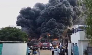 Massive fire engulfs chemical factory in Vadodara, no causalities reported