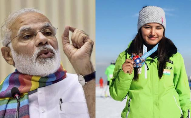 PM Modi hails skier Aanchal Thakur's 'historic accomplishment'