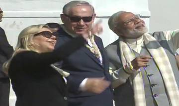 WATCH | PM Modi, PM Netanyahu and Lady Sara fly kite at Sabarmati Ashram