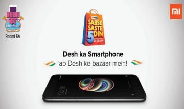 'Desh ka Smartphone' Xiaomi Redmi 5A now available in Big Bazaar outlets
