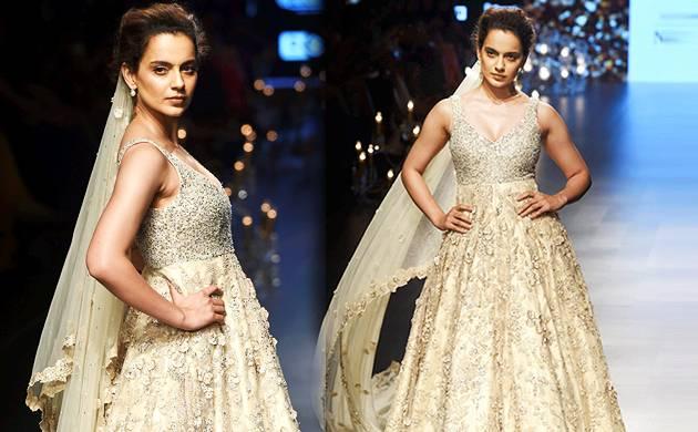 40fa45d97e Lakme Fashion Week 2018: Kangana Ranaut looks ethereal as she walks the ramp  (Source