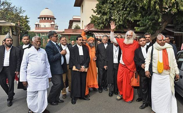 Babri Masjid-Ram Janmabhoomi matter a land dispute, no third party intervention at this stage: SC (PTI photo)