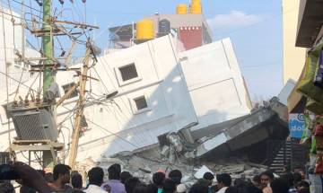 WATCH VIDEO    Five-storeyed under-construction building collapses in Bengaluru, 3 labourers killed