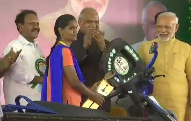 PM launches  'Amma Two-wheeler Scheme' in Chennai' (Source: ANI)