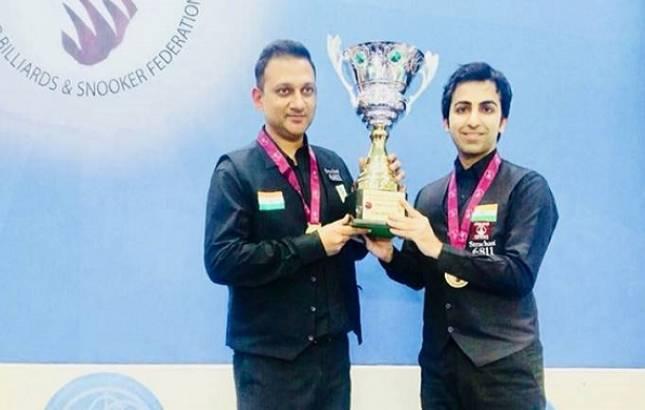Pankaj Advani-led India pip Pakistan to lift World Cup Team snooker title (Source- Pankaj Advani's Twitter)