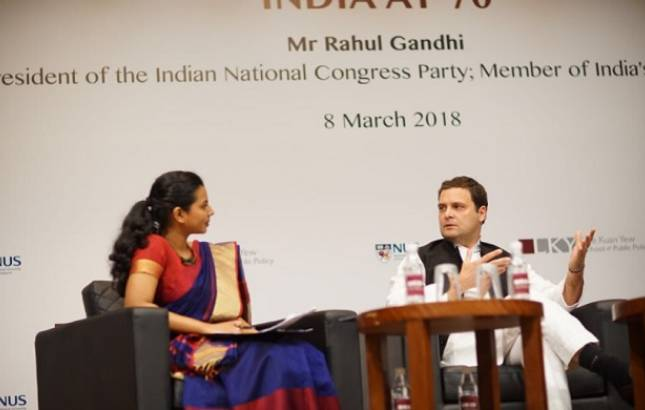 Congress will fight nasty politics in India, defeat BJP in next polls: Rahul Gandhi in Singapore