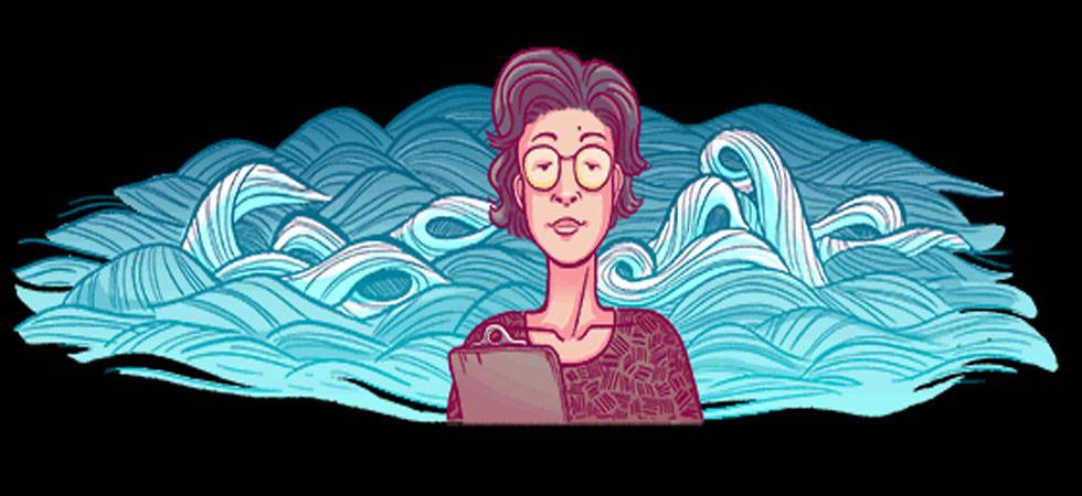 Google doodle celebrates geochemist Katsuko Saruhashi's 98th birthday (Source: Google)