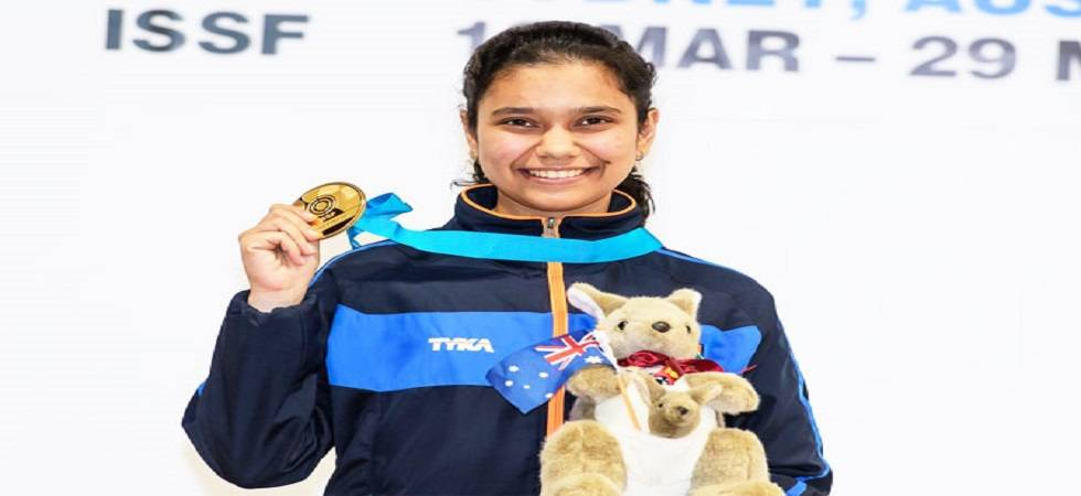 Muskan Bhanwala wins gold after defeating China at ISSF Junior World Cup(Source - Twitter)