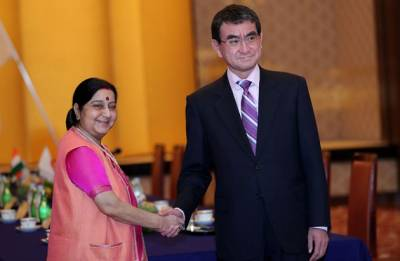 Sushma Swaraj holds bilateral talks with Japanese counterpart Taro Kono; Call for free, stable Indo-Pacific