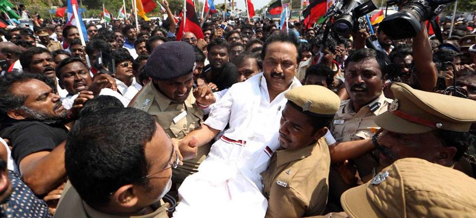 Cauvery Row: MK Stalin leads Opposition in statewide protest march (Source: Twitter)