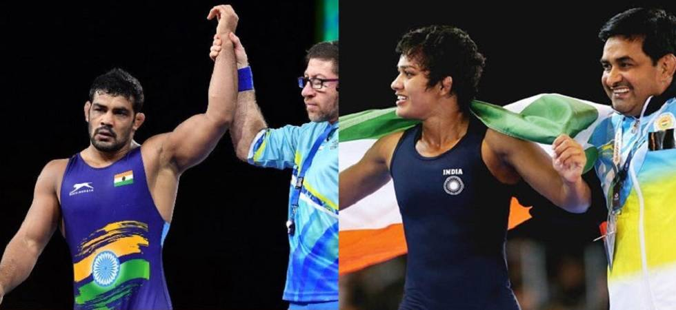 Sushil Kumar and Rahul Aware strike gold, Babita Phogat settles for silver (Source - Twitter)