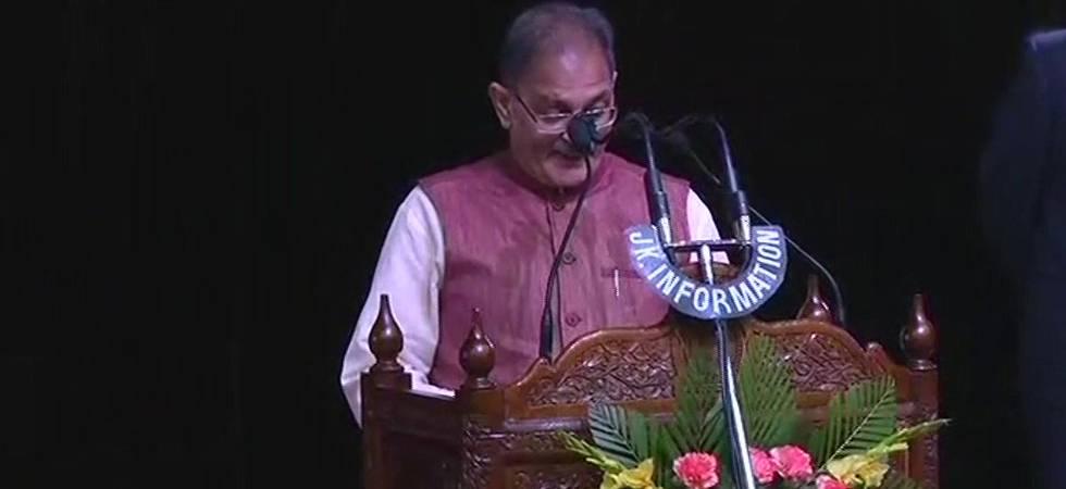 Photo of Kavinder Gupta taking oath (Courtesy: ANI)
