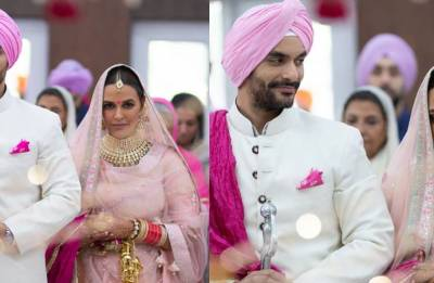 Neha Dhupia marries Angad Bedi in a private ceremony (watch video)