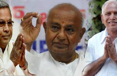 Wait for May 15, says Deve Gowda as 'kingmaker' JD(S) keeps its card close to chest