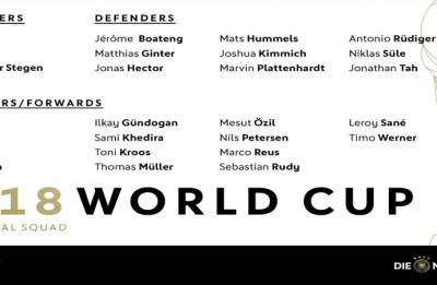 FIFA World Cup 2018: Germany announce 27-man squad; Gotze, Can, Mustafi dropped