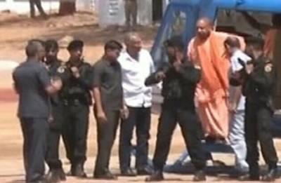 Yogi Adityanath's chopper forced to land on field in Kasganj, CM safe