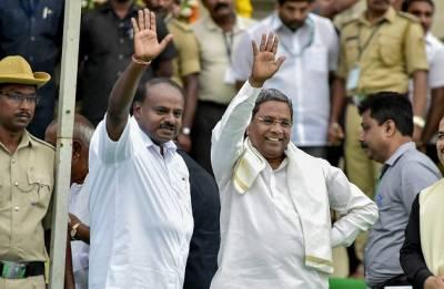 HD Kumaraswamy takes oath as Karnataka CM amid Opposition's show of strength
