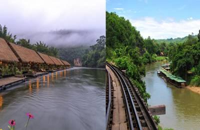By the River Kwai in Kanchanaburi