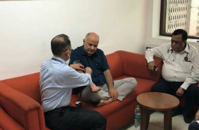 AAP Dharna: On fast for six days, Manish Sisodia admitted to hospital
