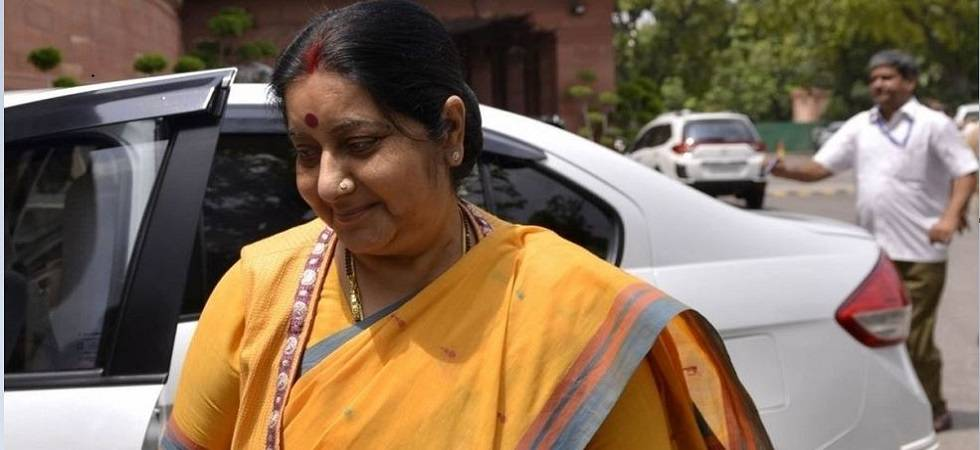 Sushma Swaraj arrives in Luxembourg on third leg of four-nation visit (File Photo)