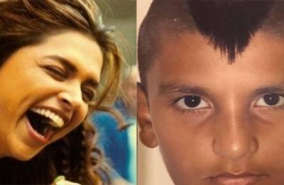 Deepika Padukone's reaction to Ranveer Singh's childhood Mohawk look